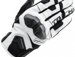 RS Taichi Armed Leather Mesh Glove - White - Size XXL