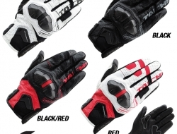 RS Taichi Armed Leather Mesh Glove - Red - Size XS
