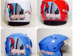 Spiderman Kids Helmet (Blue)
