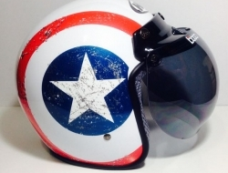 Retro Helmet Rebel Star - Size XXL