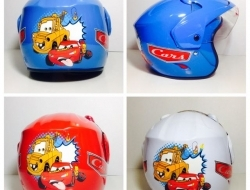 Kids Helmet Cars Blue