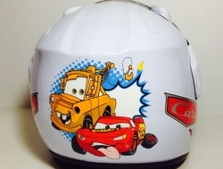 Kids Helmet Cars White