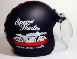 JP Retro Helmet Speed Hunter Black - Size M