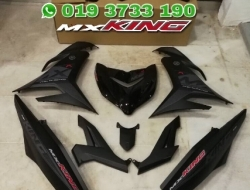 COVERSET Y15ZR MX KING HITAM MATI / MATTE