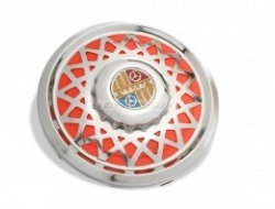 Vespa Stainless Rim Cover Red - 10 inch