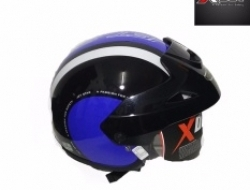 X-DOT HELMET G-616 BLUE/BLACK Size M