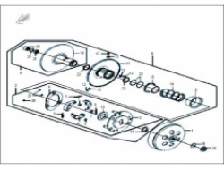 ELEGAN 150 ,   ENGINE PARTS: DRIVEN PULLEY ASSY