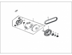 ELEGAN 150 ,   ENGINE PARTS: MOVABLE DRIVE FACE ASSY