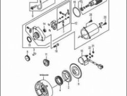 ACE 115, ENGINE PARTS : STARTER GROUP ELECTRIC