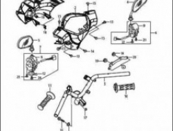 ACE 115, FRAME PARTS : HANDELBAR