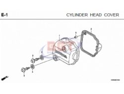 HONDA NEW WAVE DASH, ENGINE PARTS :  E-1 CYLINDER HEAD COVER