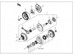 GT 128, ENGINE PARTS : CRANKSHAFT
