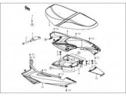 GT 128, FRAME PARTS : SEAT GROUP
