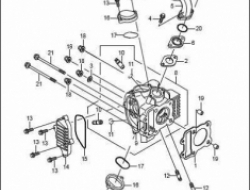 ACE 115, ENGINE PARTS : HEAD GROUP CYLINDER