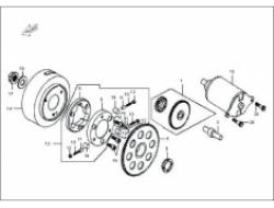 ELEGAN 150 ,   ENGINE PARTS: START REDUCT GEAR COMP