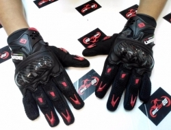 Beon Full Glove with Carbon knuckle guard (sarung tangan)