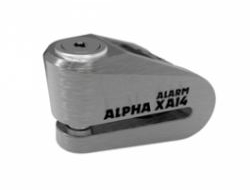 Alpha XA14 Alarm Stainless disc lock(14mm pin)- Brushed stainless
