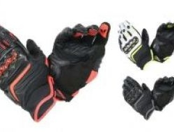 New Dainese Carbon D1 Leather Gloves Size M