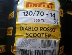 PIRELLI DIABLO ROSSO scooter (120/70-14)