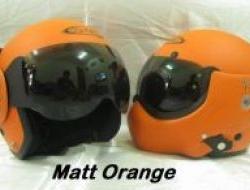 NEW Matt Orange Avex Jet Fighter Helmet Size XL