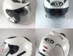 KYT Hellcat plain color White Size M