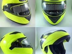 Kyt fullface fluorescents flip up visor Size M