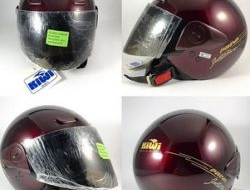 Kiwi Helmets MADE IN ITALY Dark Cherry Red Size L