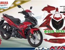 COVERSET Y15ZR MX KING RED KING MERAH MATTE