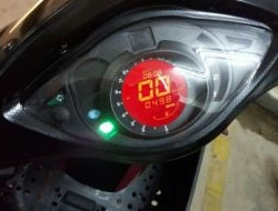DIGITAL SPEEDOMETER HONDA WAVE 100R Red