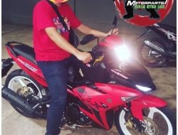 COVERSET Y15ZR MX KING RED KING MERAH MATTE RED