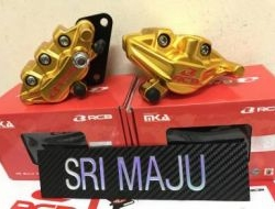Racing boy brake caliper S series Gold new