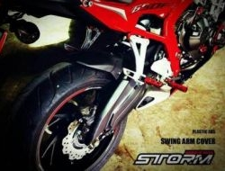 STORM CB/CBR650F Swing Arm Cover and Chain Cover