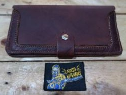 M & W Leather Wallet Dark Brown Design 3f N.N