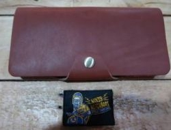 M & W Leather Wallet Light Brown Design 3d N.N