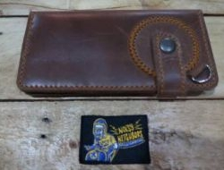 M & W Leather Wallet Light Brown Design 3b N.N
