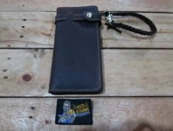 M & W Leather Wallet Dark Brown (Design 1) - N.N