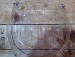 Bubble Visor With 3 Front Buttons Clear Noisy N