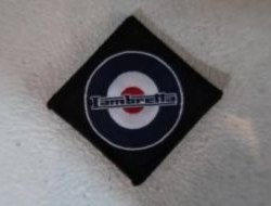 Lambretta patch target (square) badge - Design 1