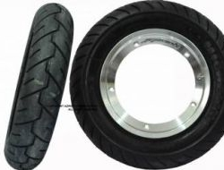 Tubeless Rim Azmiscooters (A+RT) with Tyre S1