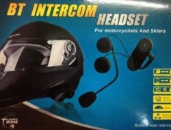 New Bt Intercom Headset Waterproof A Year Warranty