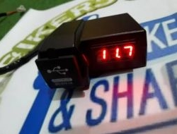 Handle USB Charger with Voltmeter -Free Pos