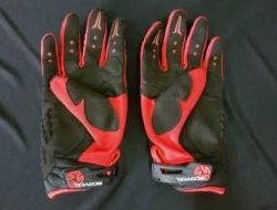 Scoyco Semi Leather with Hard Knuckle Glove Size L
