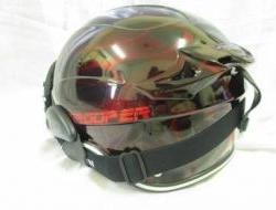 Maroon Black Space Crown Trooper Chopper Helmet Size XL