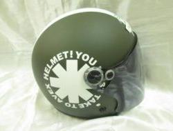 Matt Green White Avex Independent Open Face Helmet Size L