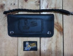 Men and Women Leather Wallet Noisy Neighbors (Black) Design 6