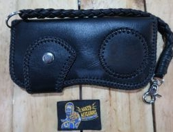 Men and Women Leather Wallet Noisy Neighbors (Black) Design 7