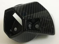 HONDA RS 150 Rear Exhaust Cover Carbon (RS150)