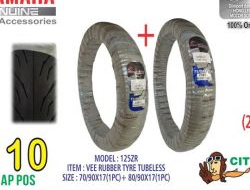 Vee Rubber Original HLY Tubeless Tyre 70/90-17+80/90-17