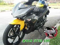 COVERSET MX KING KUNING GREY MATTE YELLOW Y15ZR EXCITER 150