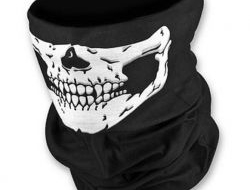 Outdoor Motorcycle Masks Scarf Half Face Mask Cap Neck Ghost Skull
